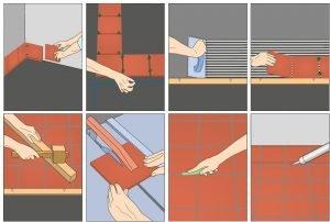 Технология кладки плитки