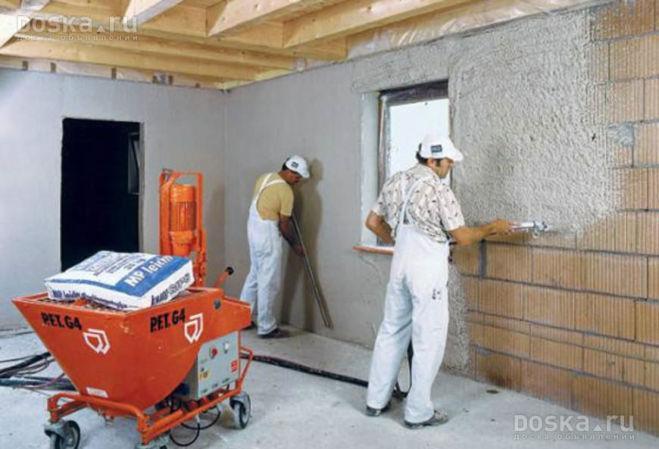 Отделочные работы стены