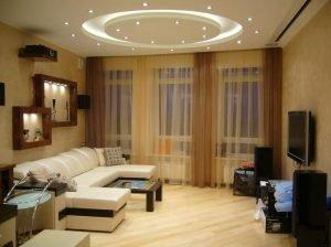 Отличный ремонт гостиной