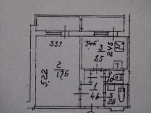 Косметический ремонт в 1 комнатной квартире (20 - 40 м.кв.) цена за м.кв.