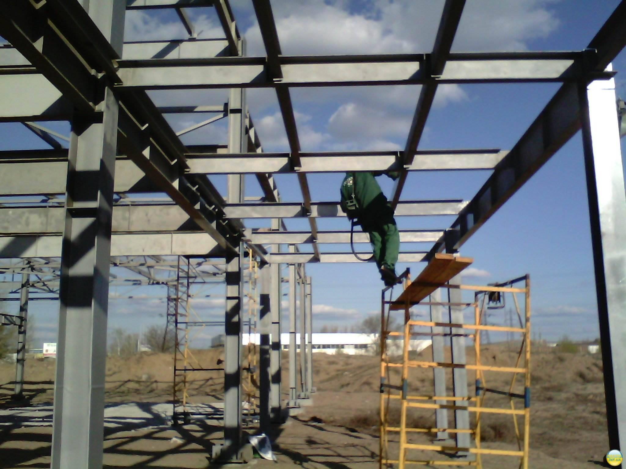 Работа с металлоконструкциями